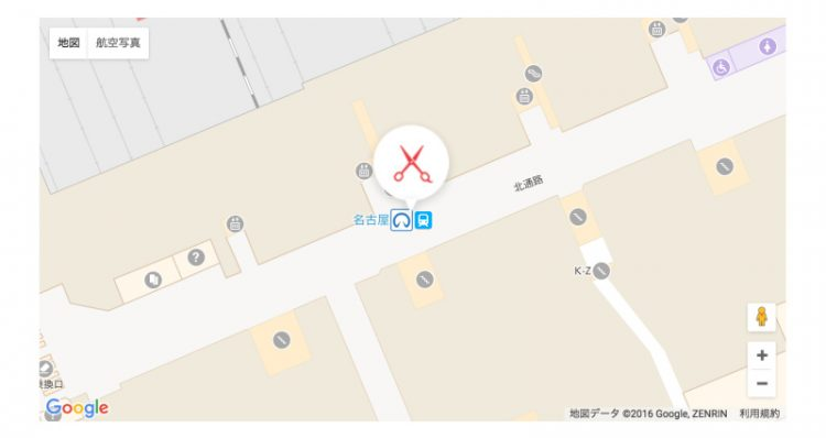"[charm-gmap id=""map3"" zoom=""20""] 表示例"